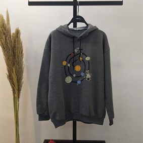 Space Füme Sweatshirt
